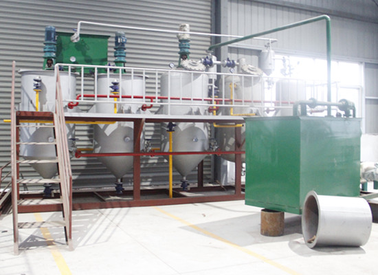 palm kernel oil refining line 1 - 2TPD palm kernel oil refinery plant in Liberia